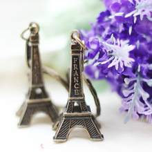 2018 Clef Retro Mini Decoration Eiffel Tower Keychain Paris Tour Chain Holder Ring Bag Charm Pendant Gift Gifts for Women(China)