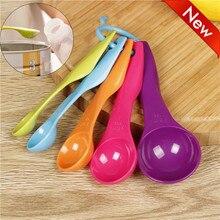 5 шт. красочные мерные ложки набор кухонных инструментов посуда кремовая ручка ложки столовые приборы кофейные питьевые Инструменты кухонный гаджет YL5