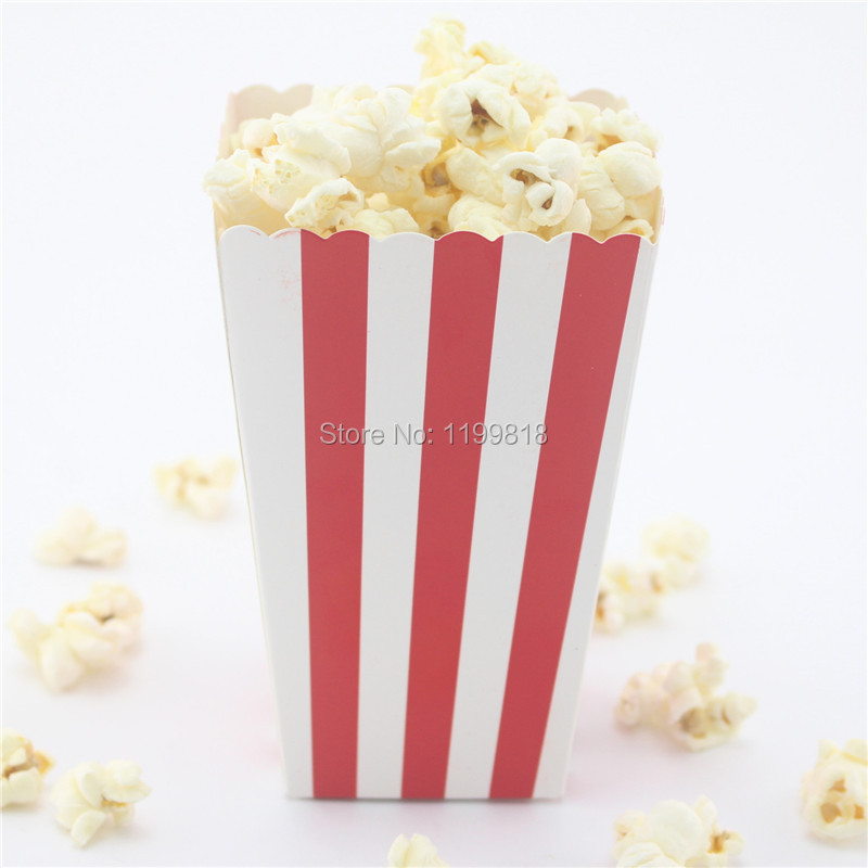 Whole120pcs Colorful Box Red Paper Popcorn Bo Supply Buffet Candy Party Bags In Disposable Tableware From Home Garden On