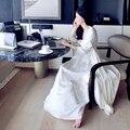 НОВАЯ Бесплатная Доставка женские Длинный Халат Королевский Бежевый Пижамы Вышивка Шелковой Атласной Ночной Рубашке Из Двух Частей Набор