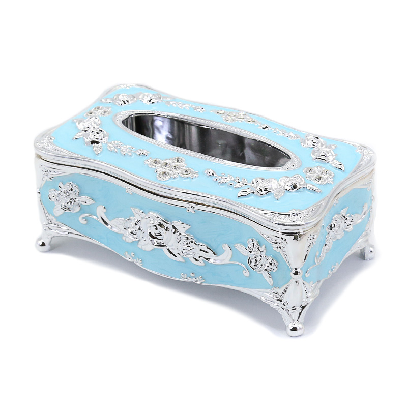 Gold Cube Tissue Box Holders Napkin Dispenser Box Case for Hotel Guest Houses Bathroom Toilet Vintage Tissue Box Cover