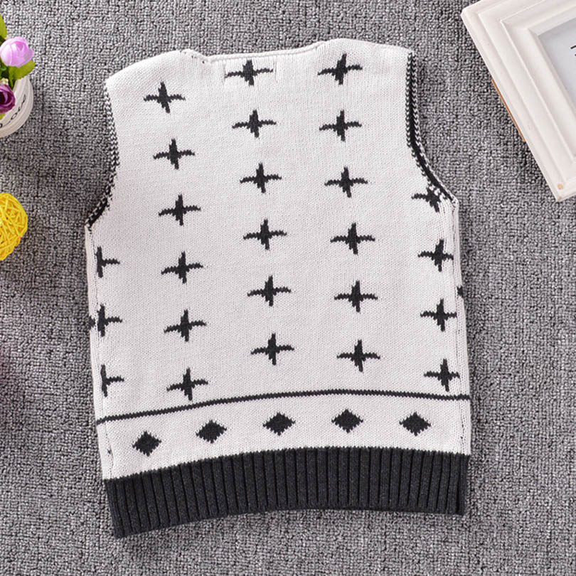 Autumn Children Bobo Totoro Knitting Sweaters Vest Baby Girls Boys