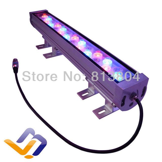 Ac 85 - 265 V 24 W 600 mm RGB cor mutável LED DMX512 wall washer colorido lâmpadas de parede