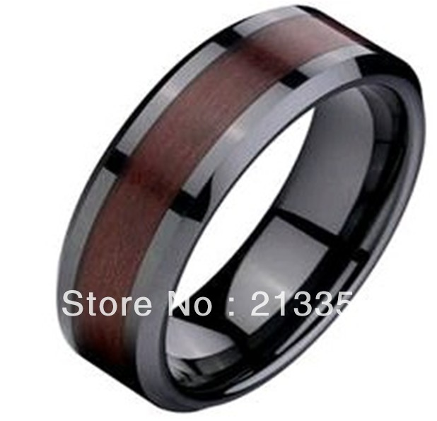 Free Shipping Price Jewelry Usa Brazil Russia Hot Ing 8mm Mens Rose Wood Inlay Black