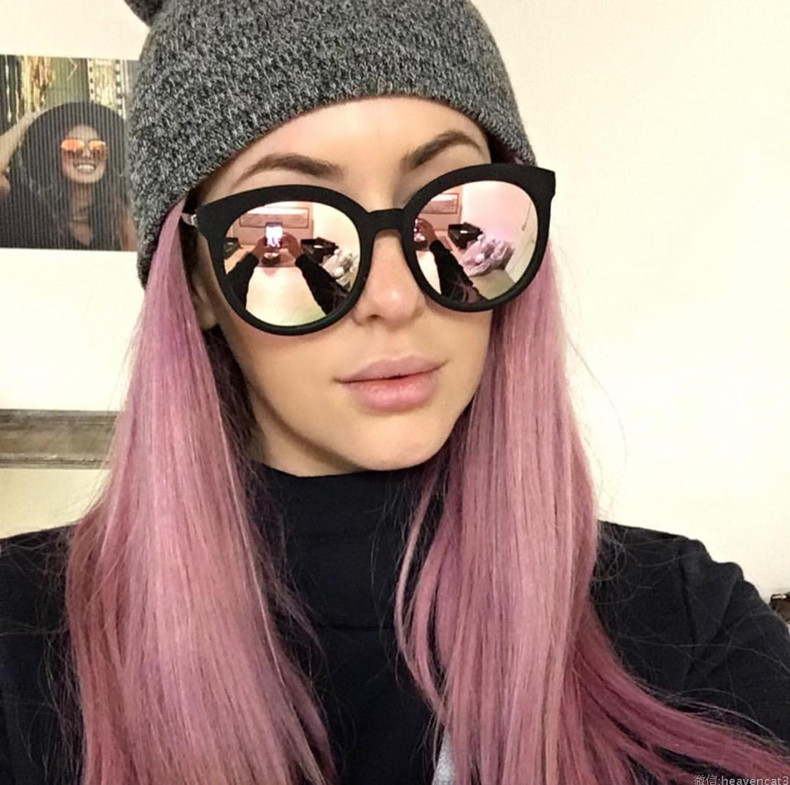 Luxury High Quality Cat Eye Sunglasses Women Brand Designer 2017 Retro Sun Glasses For Women Lady Sunglass Female Mirror Glasses (3)