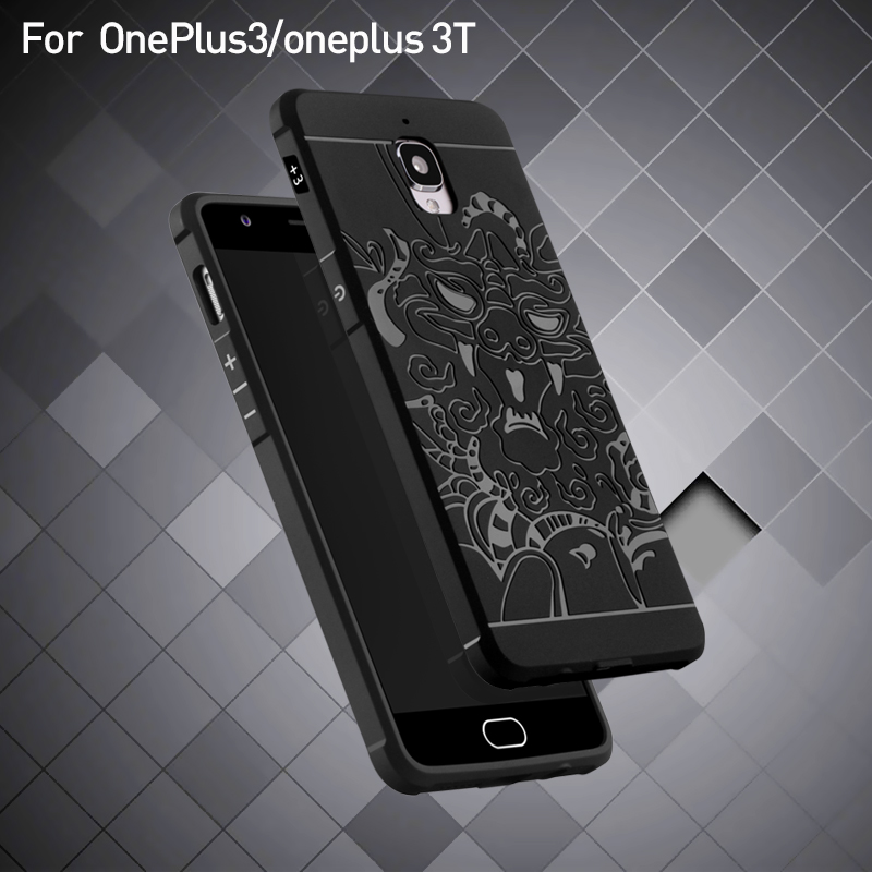 For oneplus3/ oneplus 3T Anti-knock Armor Silicone phone Cases for oneplus 3 back cover case Capa Funda For Men Male