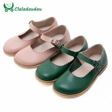 2016 Nova Baby Girl Sapatos Da Menina Das Crianças Oxford De Couro Verde Sapatos cor de rosa Crianças Meninas Retro Flats Vestido Sapatos Escolares Para 3-12year