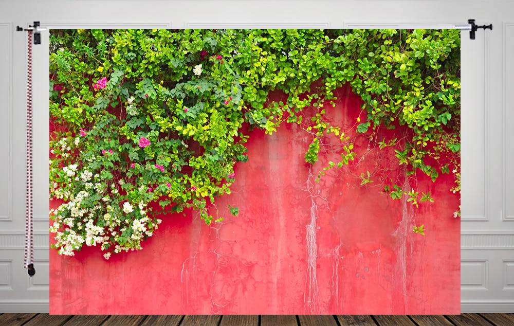 10X5FT-Imitation Wall Photography Backdrops Children Small Flower Photo Studio Background