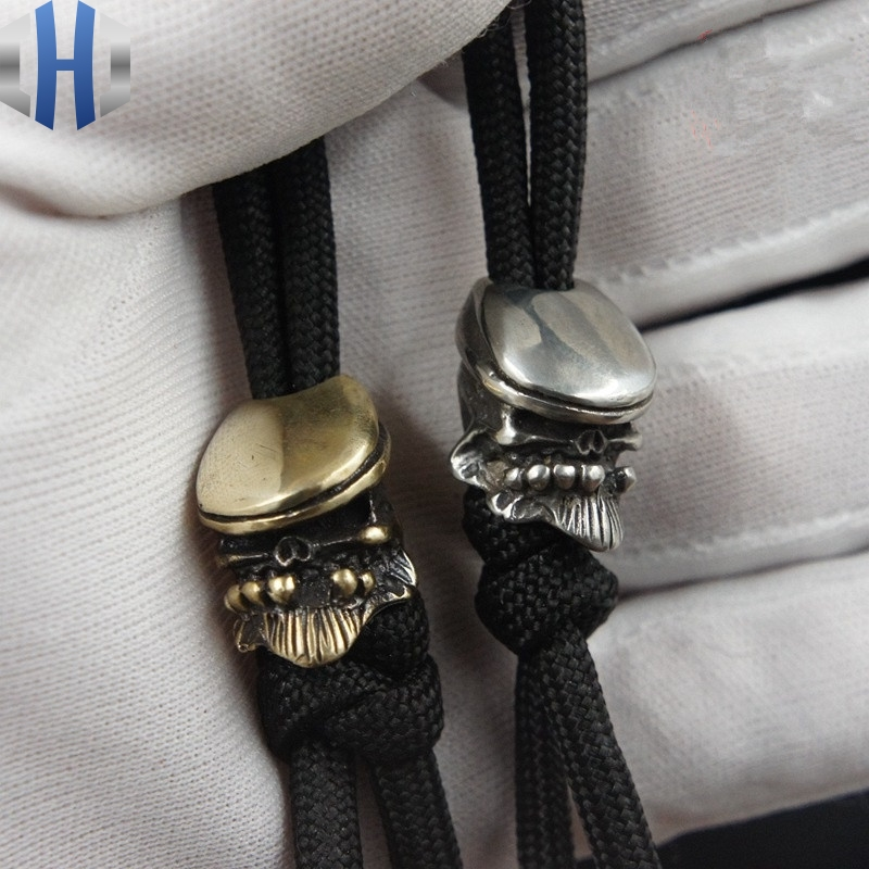 Handmade Irish Boxer Knife EDC Umbrella Rope Flashlight DIY Pendant Flashlight Keychain Lanyards Beads