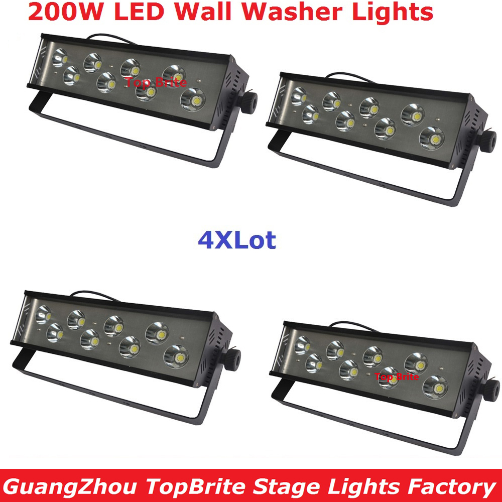 New Arrival 4Pcs/Lot 8*25W White LED Wall Washer Light 200W High Power Led Stage Strobe Effect Light 110-220V Fast Shipping