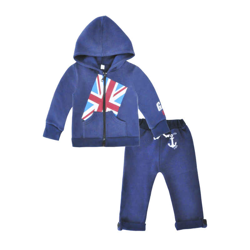 Boys Clothes Set Flag Jacket Coat Hooded Tops Long Pants Spring Autumn Children Clothing Kids Clothing Sets Toddler Boys Clothes kids boys autumn clothing set new children spring and autumn leisure sport long sleeved two piece 5 8 10 12 age kids coat pants