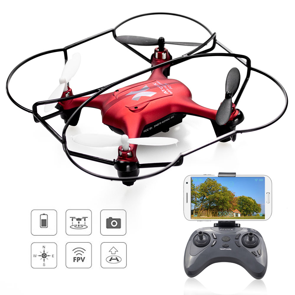 Mini Camera Drone RC Quadcopter High Hold Hovering Helicopter Wifi FPV Control Drone With Camera HD 480P Kids Adult Toy cheerson fpv cx37 tx smart h 4ch 6axis mini drone with camera hd 2mp phone wifi control rc helicopter height hold quadcopter toy