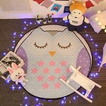 Симпатичные спальни гостиной напольные коврики carpet, круглый коврик ребенка играть коврики детские игрушки мат, ребенка ползать игрушки одеяло сумка для хранения