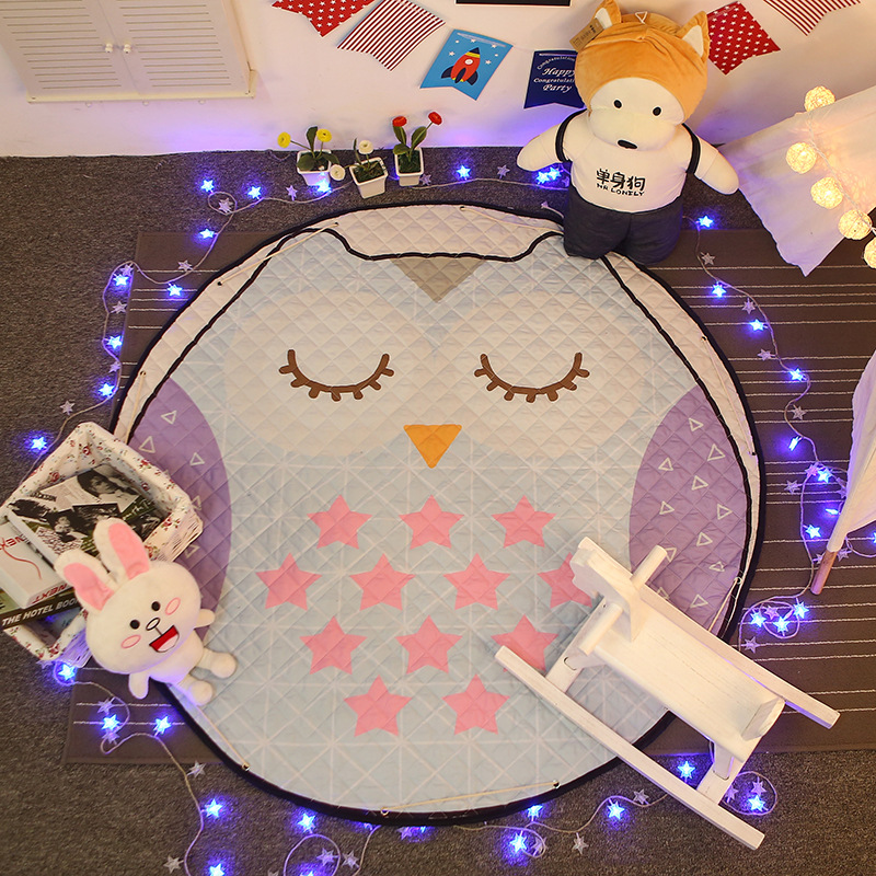 Cute Bedroom Living Room Outdoor Rugs Carpet Round Floor font b Mat b font Baby font