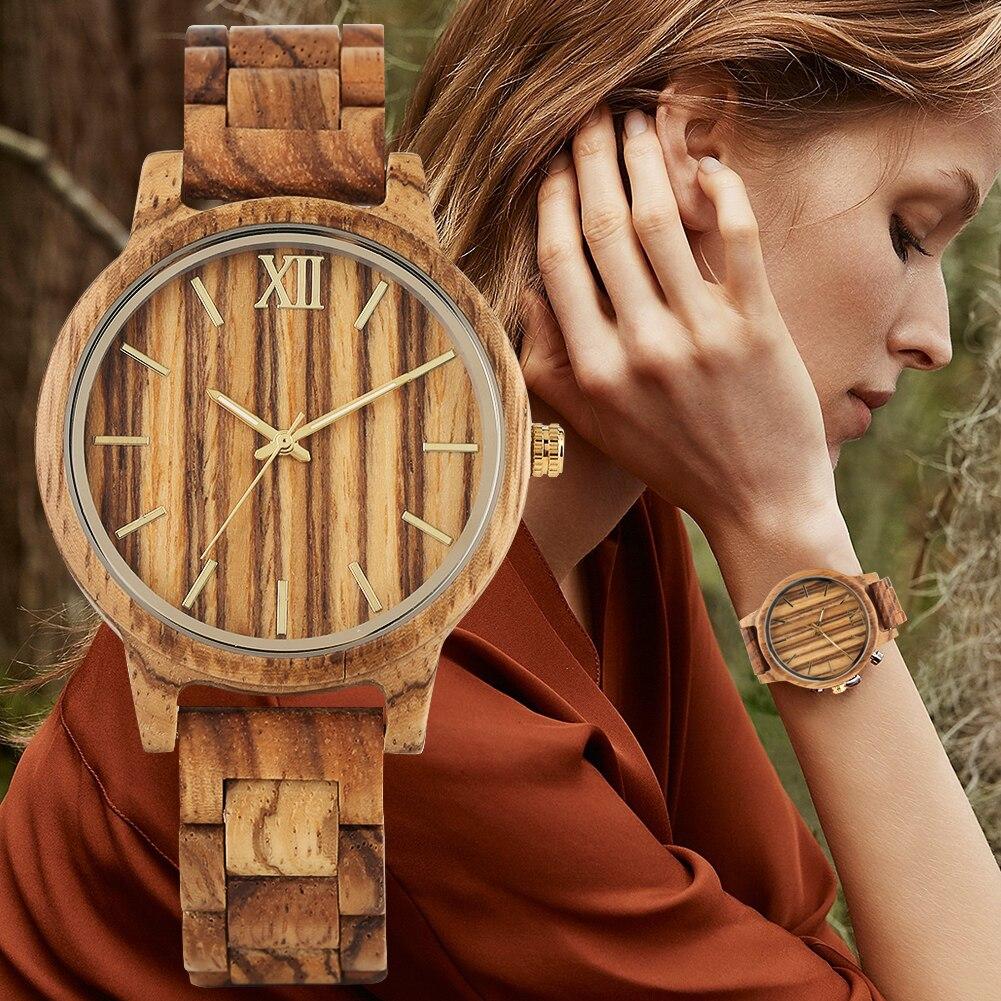 Wooden Watch Men Clock Ultra-Light Fashion Luxury Masculino Engraved Natural-Wood Handmade