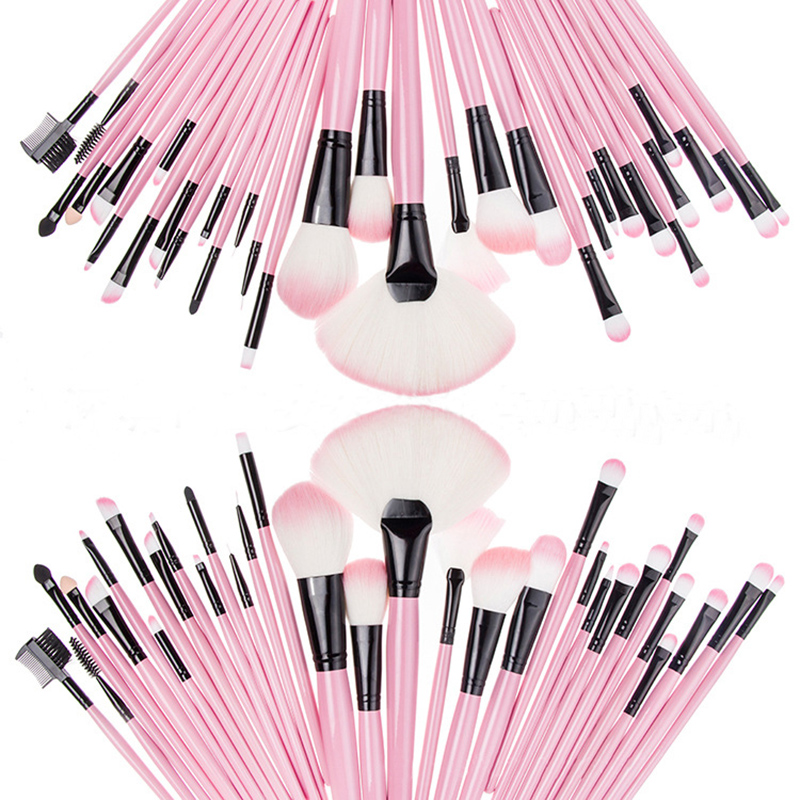 Wholesale 2016 New Fashion 32 Pcs Makeup Brushes Set Powder Foundation Eyeshadow Eyeliner Lip Cosmetic Brush Tool Free Shipping 2017 new20pcs foundation eyeshadow eyeliner lip brush tool makeup brushes set powder new