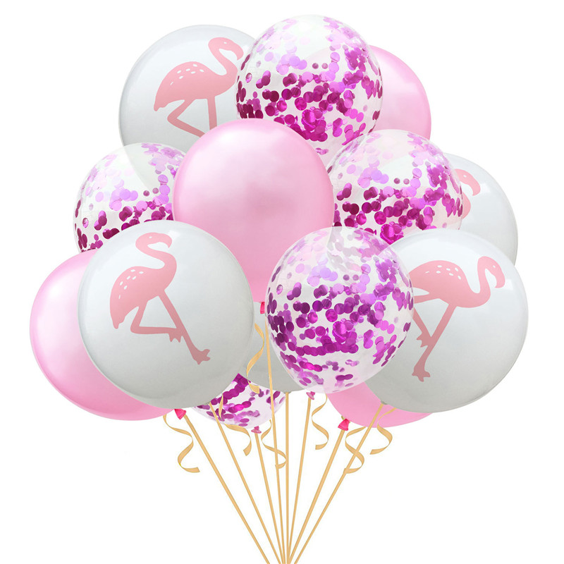 Wedding Decoration 1Set 12inch Pink Flamingo Pineapple Confetti Bride To Be Balloon Baby Shower Hen Party DIY Event Favor Gift Q in Party DIY Decorations from Home Garden