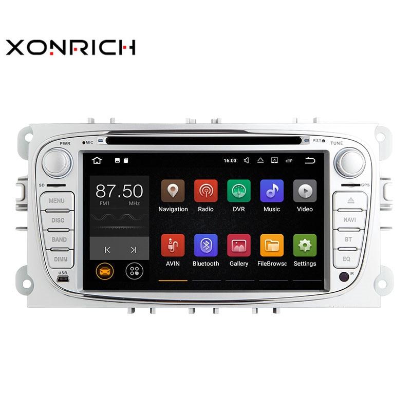 Xonrich Car Multimedia Player Android 8.1 GPS AutoRadio 2 Din Per Ford Focus 2 S-Max C-Max mondeo 4 Galaxy Kuga Transit Connect