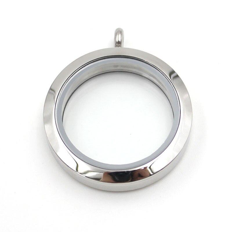 Медальон 20 мм 25 мм 30 мм 35 мм магнитный Серебряный 316L Нержавеющая сталь плавающий медальон кулон