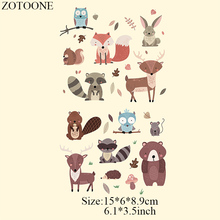 ZOTOONE Cartoon Cute Animal Iron On Transfer Patches Stickers for Clothes Children T-shirt Dresses Sweater DIY Accessory Patch D