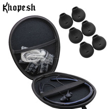 Khopesh сумка для хранения наушников чехол для samsung уровень U Bluetooth Беспроводные наушники с 3 парами ушных наконечников