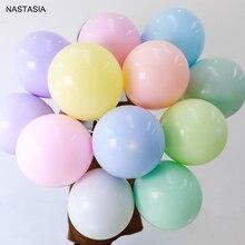 NASTASIA 100 шт./лот разноцветные латексные шары Макарон 5 дюймов Свадебные украшения Воздушные шары День рождения
