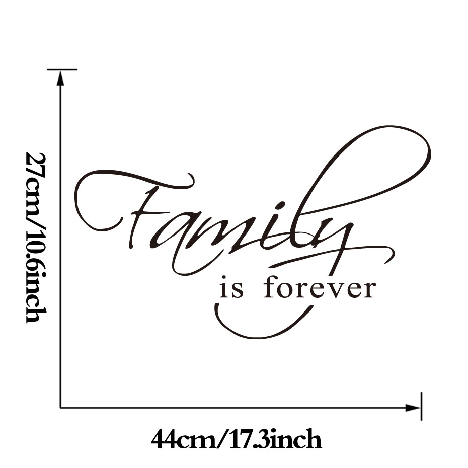 DCTOP Family Is Forever Wall Art Decal Quote Words Lettering Decor Sticker Wall Decals Home Decor Room Decoration in Wall Stickers from Home Garden