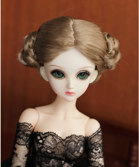купить MSD doll wigs 7-8inch   Lovely Ballerina Wigs   Lati Blue synthetic mohair BJD wig  Porcelain doll accessories дешево
