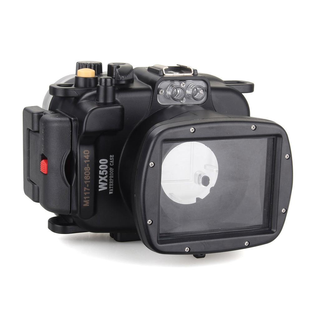 Meikon 40m/130ft Waterproof Diving Camera Housing Case Cases for Sony WX500 Housing Cases For Sony DSLR Camera Underwater Case meikon бокс meikon для nikon j5 kit с объективом 10 30мм