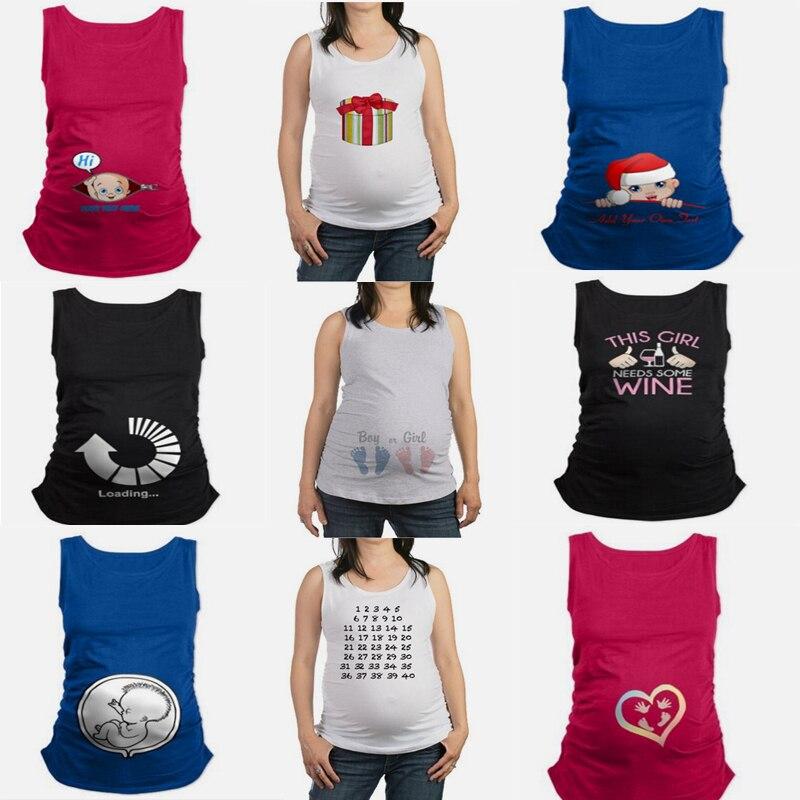 Camisoles Maternity Wear Watermelon Bump Mamagaga Women singlet Summer Pregnant Clothes Nursing TankTop Funny Maternity T-shirtX