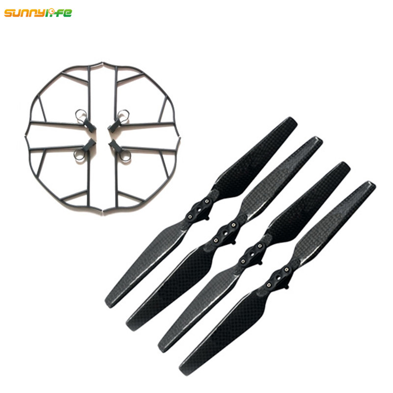 Sunnylife 2In1 2pair 8330F Carbon Fiber Propellers 8 3 3 Quick Release Props 4pcs Propellers Protector