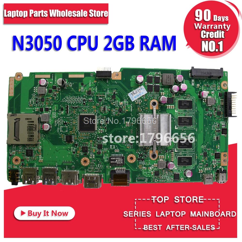 X540SA Motherboard 2G RAM N3050 For ASUS X540SA X540S X540 F540S laptop Motherboard X540SA Mainboard X540SA Motherboard test ok цены