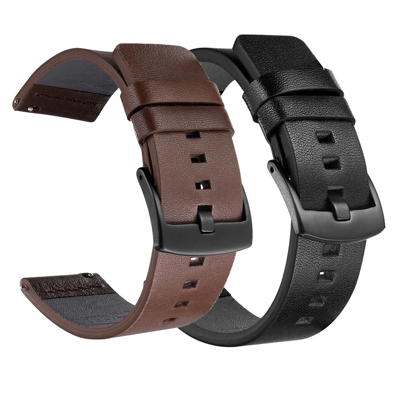 20mm Leather Band For Samsung Galaxy Watch Active 42mm Gear Sport S2 Quick Fit Bracelet Strap For Huami Amazfit Bip/Garmin 645