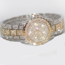 Famous Brand Bling Rose Gold Crystal Watch Stylish Women Watch Luxury Sparkly Crystal Gold Shinning Diomand
