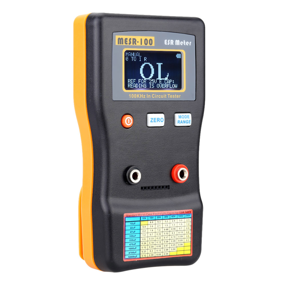 MESR 100 ESR Capacitance Ohm Meter Professional Measuring Capacitance Resistance Capacitor Circuit Tester
