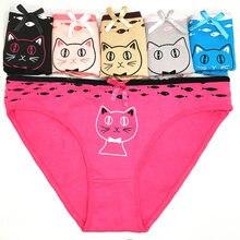 cec87082263 1PCS Cute Panties Woman Cartoon Pattern Fashion Funny Low-Rise 90%Cotton  Underwear Woman