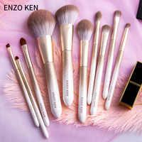 ENZO KEN 10 шт. набор кистей для макияжа Пудра основа для макияжа Тени для век Косметика Мягкие синтетические волосы кисти для макияжа