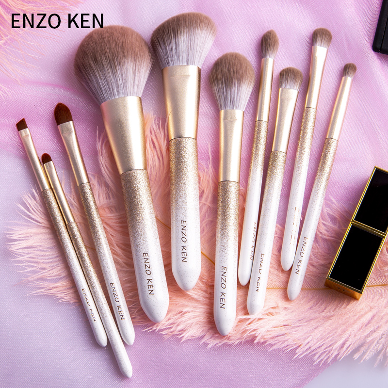 ENZO KEN 10 Pcs Makeup Brushes Set for Highlighting and Contouring Suitable for Eye and Face Makeup 5