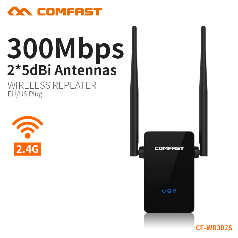 COMFAST 300Mbps Wireless Repeater WIFI Router 2.4GHz Signal Extender Wireless N Wi-fi Amplifier EU US plug