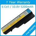 5200mah laptop battery for lenovo B570E B570G G460G G460L G470A G475A G565G G565L G570E V570G 121001150 121001097 31CR19/66-2