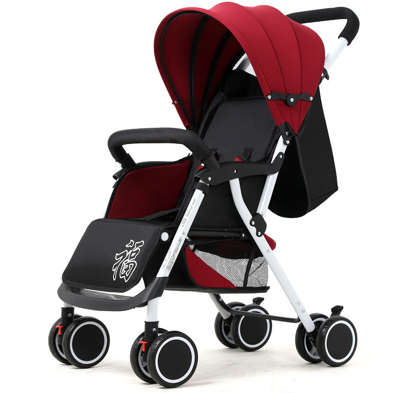 Have An Inquiring Mind Baby Stroller Reclining Lightweight Folding Shock Activity & Gear Absorbering Portable Two-way Push Cart For Four Seasons Use Travel Plus 2 Set And To Have A Long Life.
