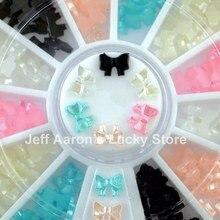 6 cores beleza 3d laço pérola roda acrílico prego arte glitter decoração ferramentas acessórios do prego novo
