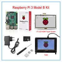 Raspberry Pi 3 Model B Board Kit 5 Inch LCD HDMI USB Touch Screen 5V 2