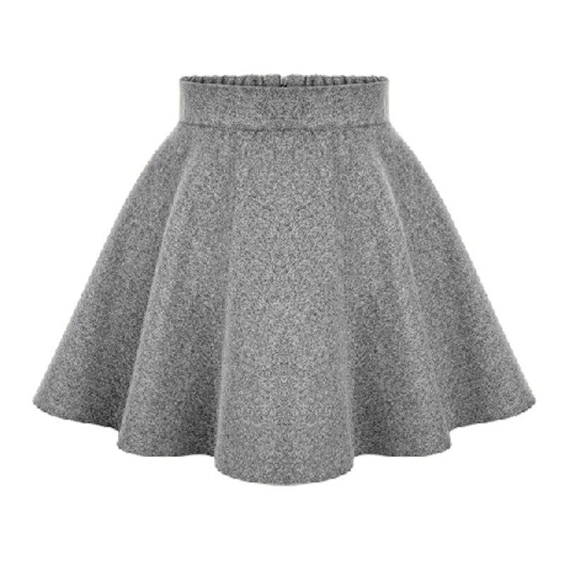 Aliexpress.com  Comprar 2017 nuevas damas de invierno alta cintura Faldas  lana para mujer Falda midi señoras Tutu plisado falda más tamaño mini falda  SAIA ... 335aa7ebaa3e