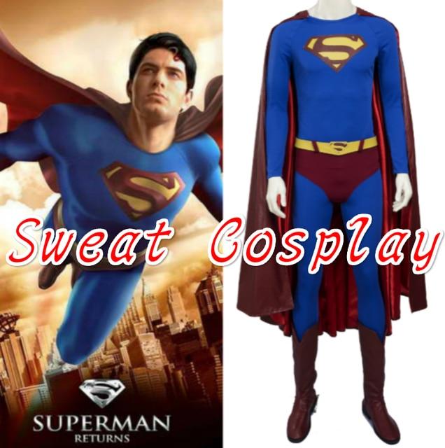 US $145 0 |High Quality Superman Returns Superman Costume for adult  Halloween costumes Men Superhero Superman suit Cosplay Costume-in Movie &  TV