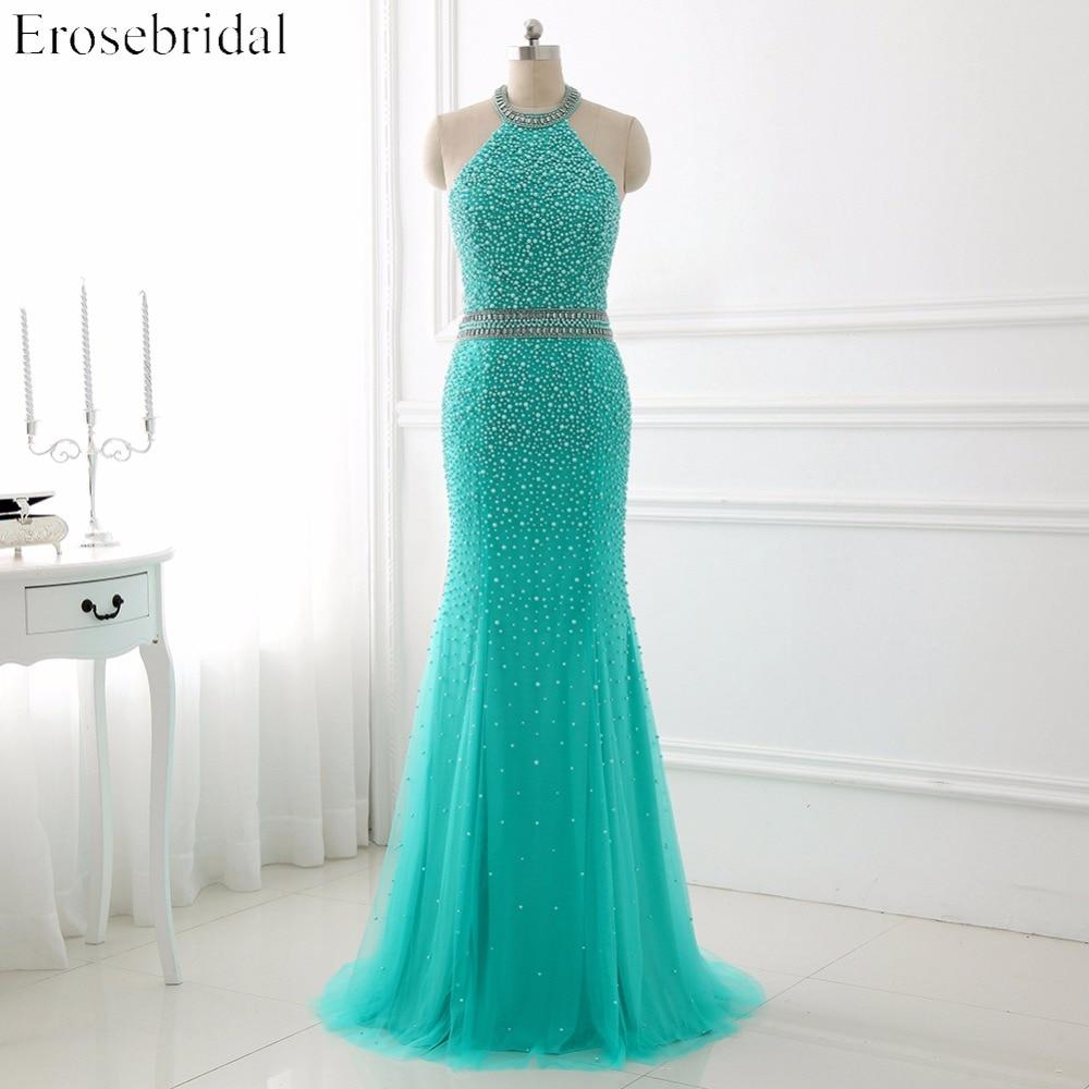 2018 Evening Dresses Erosebridal Mermaid Long Prom Dress Sexy Backless Formal Women Wear Robe De Soiree