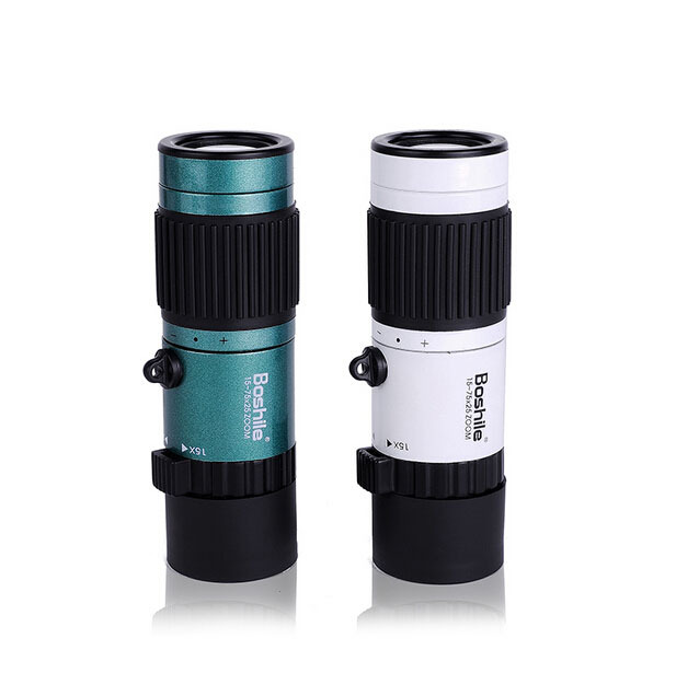 Original Boshile kikare 15-75x25 HD Flexibelt fokus High Power Mini Monocular Zoom Telescope För Camping Gratis frakt