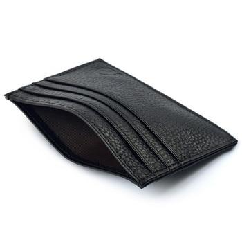 Unisex Slim Credit Card Holder Mini Wallet ID Case Purse Bag Pouch Black Artificial Leather Casual Fashion Women Men Carteira