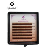 Genie 3pcs/lot Eyebrow Extension Brown Color 0.10/ I Curl/5mm 6mm 7mm Salon Use Professional Eyelash Extension