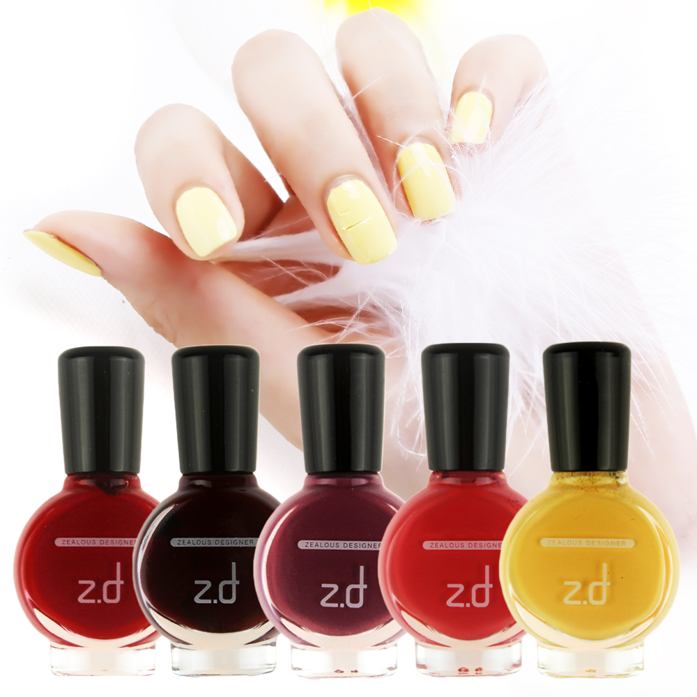 zd 1 pc 15ml healthy peel off nail gel polish shimmer pigment vernis a ongle paillette 9 colors